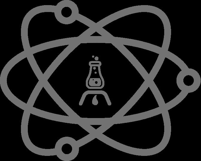 Forschung Atomschalen mit Reagenzglas