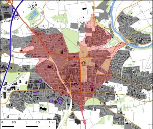 Isochrone zur Ermittlung optimaler Standorte in der Bedarfsplanung